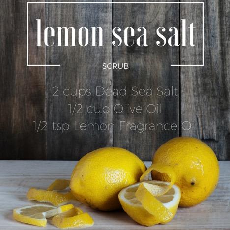 Lemon Sea Salt Scrub Recipe