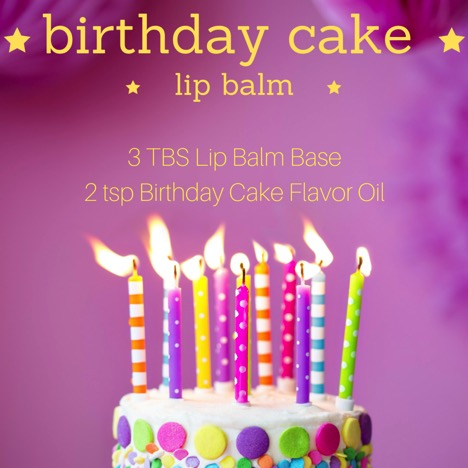 Birthday Cake Lip Balm Recipe 1