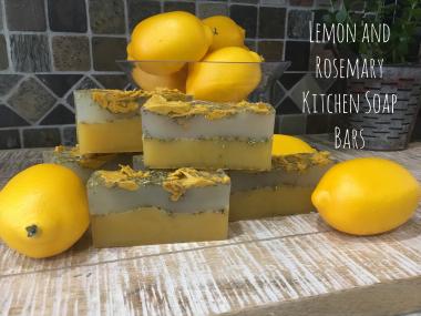 Lemon Rosemary Soap 1